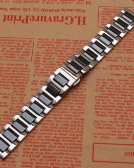 NEW Stainless steel Watchband wrap ceramic Watch accessories