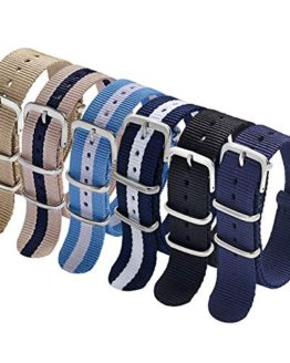 Carty NATO Watch Straps 20mm 6 Pack Nylon Watch Bands
