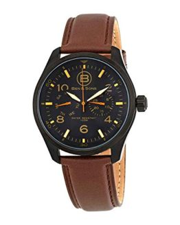 Ben & Sons Men's Marshall Analog Display Quartz Brown Watch