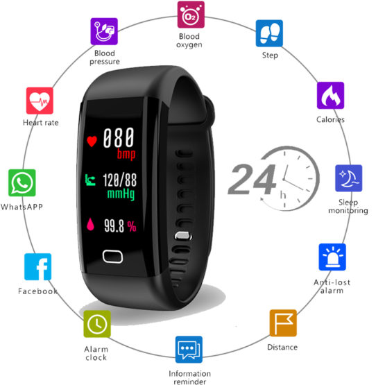 Smart Watch Men Women Heart Rate Monitor Blood Pressure