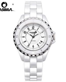 Luxury Brand Women Watches Fashion Casual Elegant Ceramic White