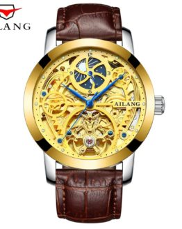 AILANG Fashion Golden Star Luxury Design Clock Mens Watch