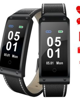 Luxury Leather Men Smart Watch Top Brand Multifunction Bluetooth