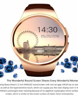 KW18 Smart Watch Men Support SIM TF Card Bluetooth Call Heart Rate