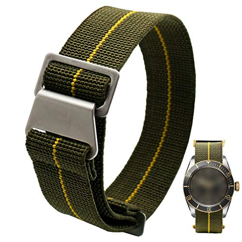 60's French Troops Parachute Special Elastic Nylon Watch Band