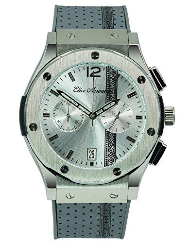 Elico Assoulini SU5975944 The Assoulini Men's Luxury Wrist Watch - Japanese Quartz Chronograph - 54.5mm Case Size, Gunmetal Grey