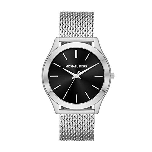 Michael Kors Men's Slim Runway Analog-Quartz Watch with Stainless-Steel Strap, Silver, 22 (Model: MK8606)