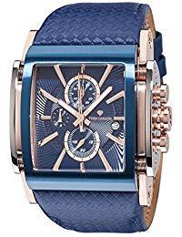 YVES CAMANI ESCAUT Men's Wrist Watch Chronograph Analog Quartz Blue