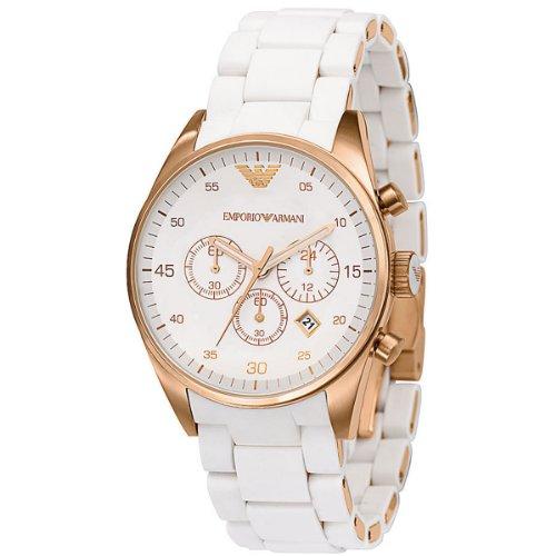 Emporio Armani Women's AR5920 Sportivo White Dial Watch