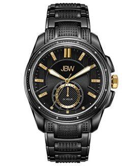 JBW Luxury Men's Prince J6371C 0.23 Karat Diamond Wrist Watch with Stainless Steel Bracelet