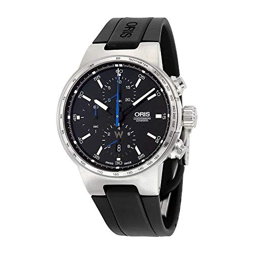 Oris Williams Chronograph Automatic Black Dial Black Rubber Mens Watch 01 774 7717 4154-07 4 24 50