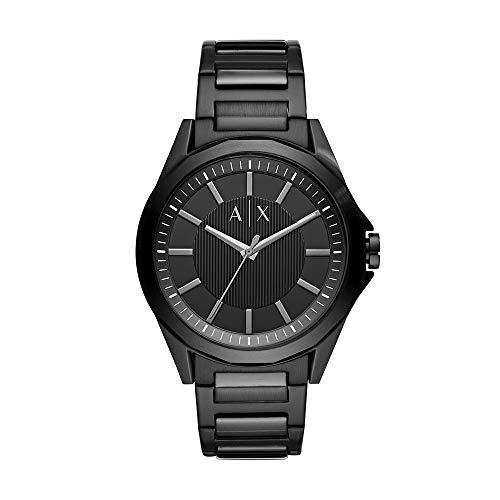 A/X Armani Exchange Men's Three-Hand Black Stainless Steel