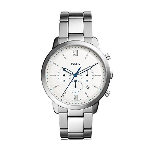 Fossil Men's Neutra Chrono Analog-Quartz Watch with Stainless-Steel Strap, Silver, 22 (Model: FS5433)