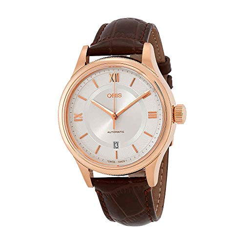 Oris Classic Silver Dial Leather Strap Men's Watch 73377194871LS