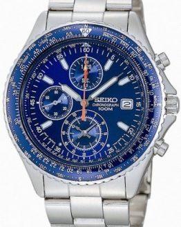 Seiko Men's SND255P1 Flightmaster Pilot Slide Rule Chronograph Watch