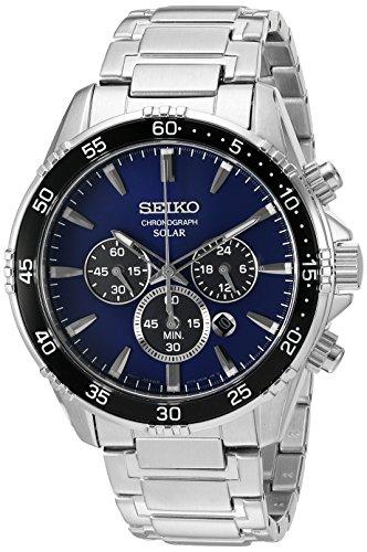 Seiko Men's 'Chronograph' Quartz Stainless Steel Dress Watch (Model: SSC445)