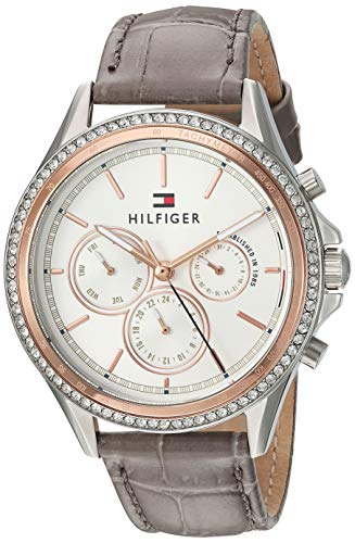 Tommy Hilfiger Women's Casual Stainless Steel Quartz Watch with Leather Strap