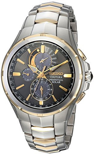 Seiko Men's COUTURA Japanese-Quartz Watch with Two-Tone-Stainless-Steel Strap, 12 (Model: SSC376)
