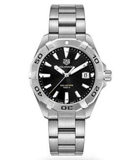 Tag Heuer Aquaracer Brushed Black Dial Mens Watch