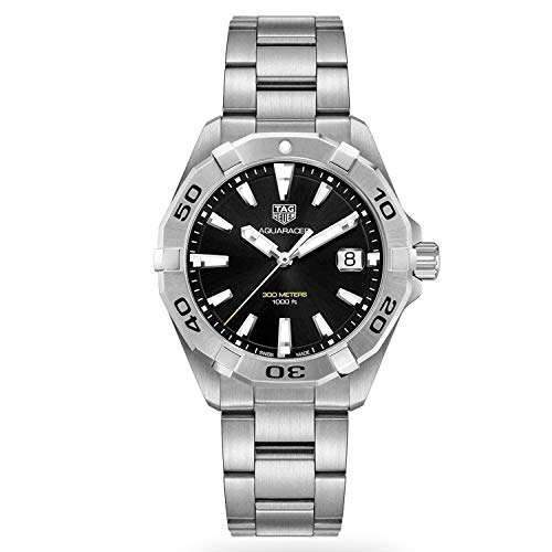 Tag Heuer Aquaracer Brushed Black Dial Mens Watch