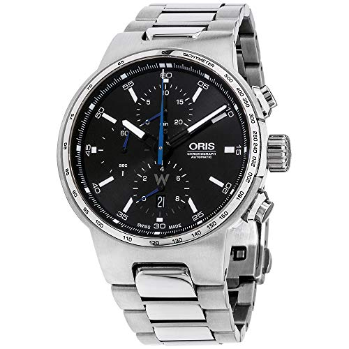 Oris Men's 'Williams F1' Swiss Automatic Stainless Steel Dress Watch, Color:Silver-Toned (Model: 77477174154MB)