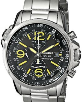 "Seiko Men's SSC093 ""Adventure-Solar Classic"" Stainless Steel Watch"