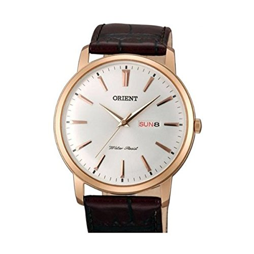 Orient Capital Quartz Rose Goldtone Dress Watch with Day and Date UG1R005W