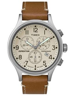 Timex Expedition Scout Cream Dial Leather Strap Men's Watch