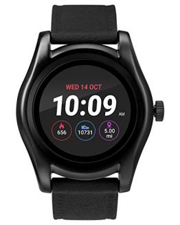 iConnect by Timex TW5M31500 Black Round Smartwatch, Black Silicone Strap
