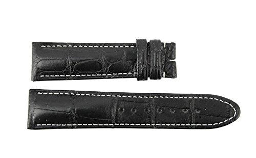 Sport Black 100% Alligator Strap Band 100/70/19 mm 9452#11 for Montblanc