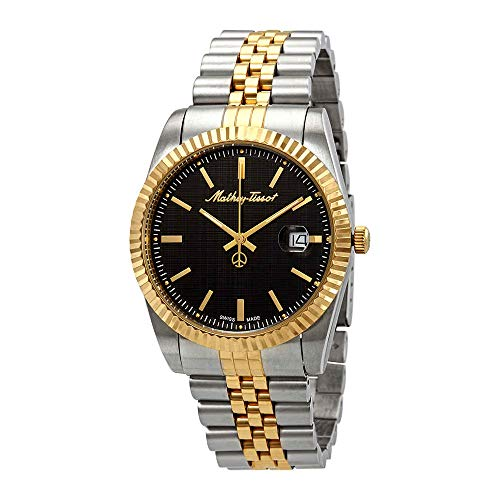Mathey-Tissot Rolly III Black Dial Two-Tone Men's Watch