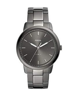 Fossil Men's The The Minimalist 3H Quartz Stainless-Steel-Plated Strap, Grey, 22 Casual Watch (Model: FS5459)