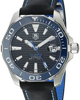 TAG Heuer Men's Aquaracr Analog Display Swiss Automatic Black Watch