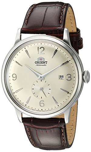 Orient Men's Bambino Small Seconds Stainless Steel Japanese-Automatic Watch with Leather Strap, Brown, 20 (Model: RA-AP0003S10A