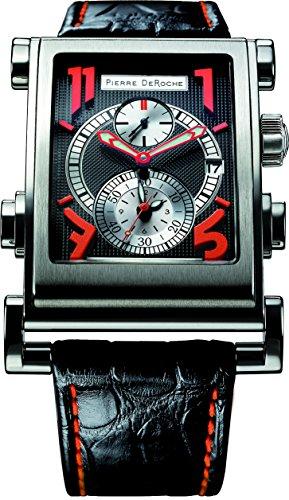 Pierre De Roche Splitrock Orange Big Numbers Men's Watch SPR30001ACI0-007CRO