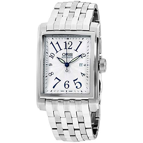 Oris Rectangular Automatic Movement Silver Dial Unisex Watch 56176574061MB