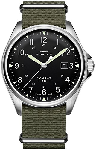 Glycine Combat 6 Vintage Automatic Black Dial Mens Watch GL0122