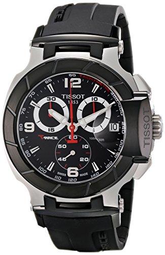 Tissot Men's T-Race Black Chronograph Dial Watch