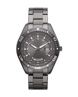 Relic by Fossil Men's Taran Quartz Watch with Stainless-Steel-Plated Strap, Grey, 20 (Model: ZR12593)