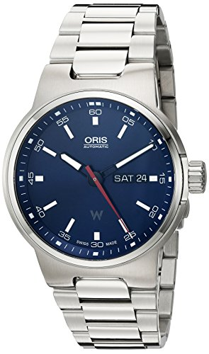Oris Men's 'Williams F1' Swiss Automatic Stainless Steel Watch, Color:Silver-Toned (Model: 73577164155MB)