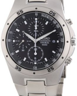 Seiko SE-SND419 Titanium Chronograph 100M WR Watch