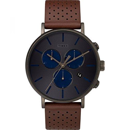 Timex Supernova Fairfield Grey Dial Leather Strap Unisex Watch