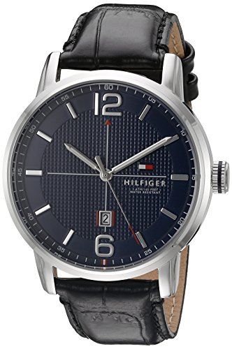 Tommy Hilfiger Men's George Analog Display Japanese Quartz Black Watch