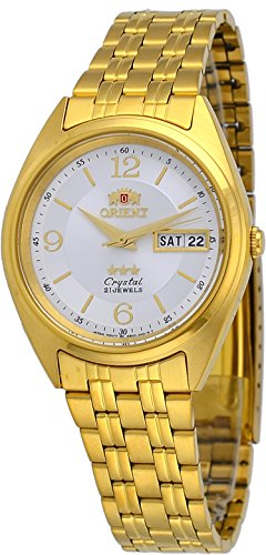 Orient #FAB0000CW Men's 3 Star Standard Gold Tone Silver-White Dial Automatic Watch