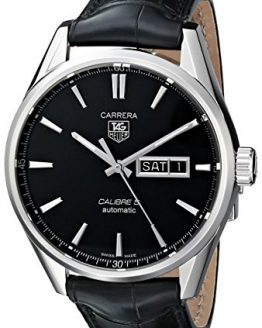 TAG Heuer Men's Analog Display Automatic Self Wind Black Watch
