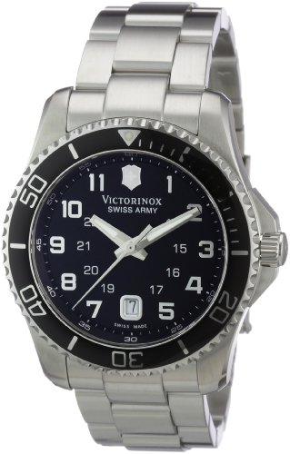 Victorinox Swiss Army Men's Maverick Stainless Steel Black Dial Watch