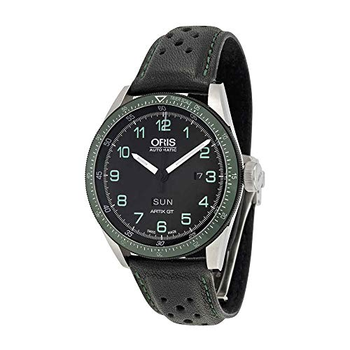 Oris Calobra GT Limited Edition Automatic Black Dial Black Leather Mens Watch 735-7706-4494SET