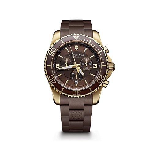 Victorinox Men's 241692 Maverick Chrono Analog Display Swiss Quartz Brown Watch