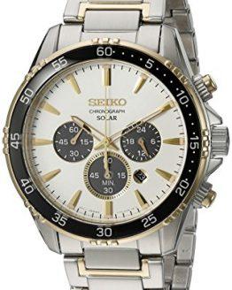 Seiko Men's 'Chronograph' Quartz Stainless Steel Dress Watch (Model: SSC446)