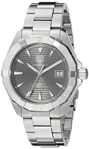 TAG Heuer Men's Aquaracracer Swiss-Automatic Watch with Stainless-Steel Strap